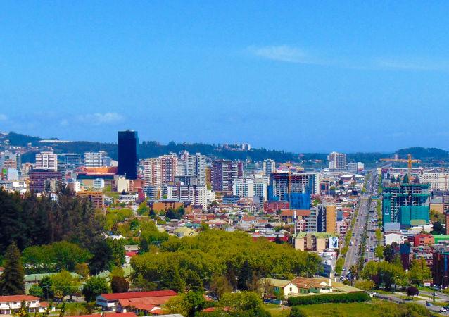 Vista de la ciudad de Concepción (Chile)