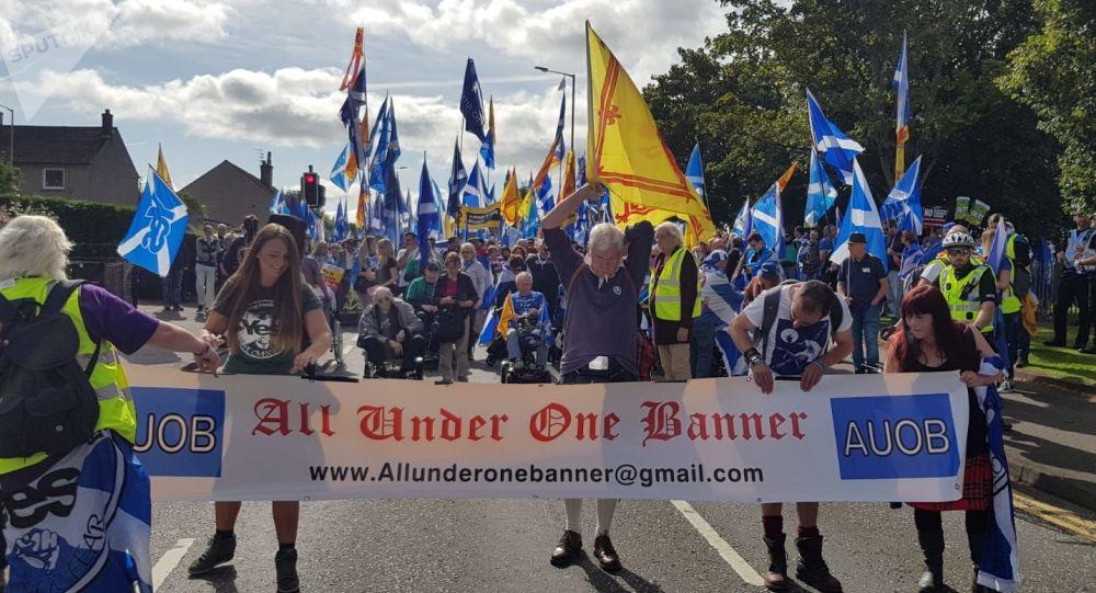 Grupos independentistas escoceses que han organizado marchas en Aye, Aberdeen y Perth