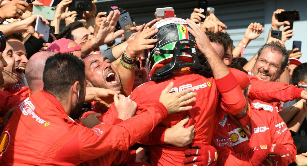 Victoria de Charles Leclerc del equip ode Ferrari en el Gran Premio de Italia, el 8 de septiembre de 2019