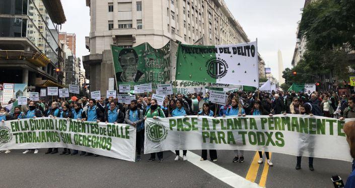 Marcha de ATE y CTA a Plaza de Mayo