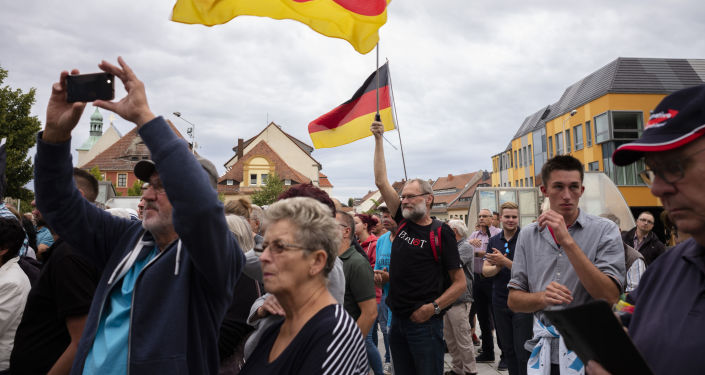 Los partidarios de AfD durante las elecciones en Brandenburgo y Sajonia, Alemania