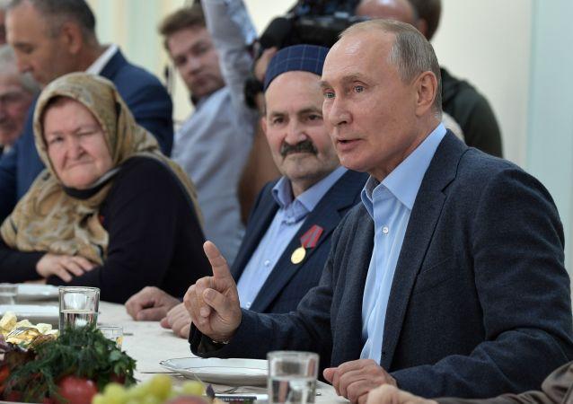 El viaje de trabajo de Vladímir Putin a Daguestán