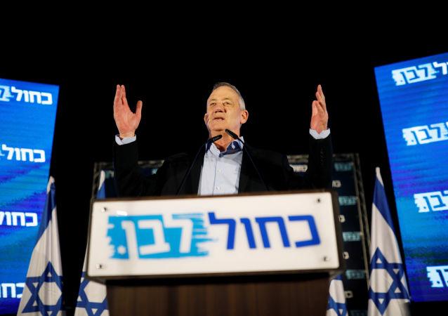 Benny Gantz, el presidente de la coalición Azul y Blanco