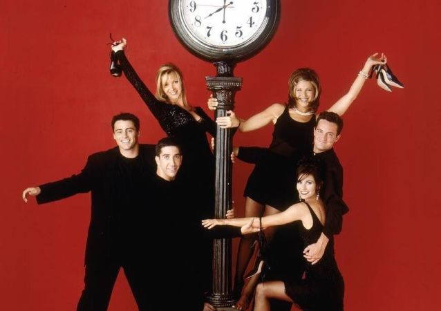 El elenco principal de Friends