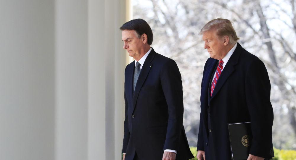 Los presidentes de Brasil y EEUU Jair Bolsonaro y Donald Trump