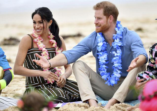 Meghan y el príncipe Enrique en Australia, el 19 de octubre de 2018