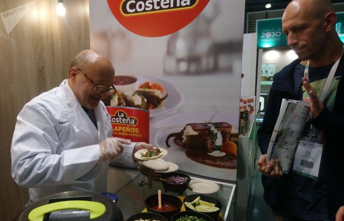 El estand mexicano en la feria alimentaria internacional WorldFood en Moscú