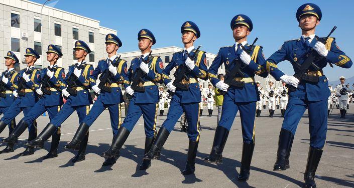 Militares chinos, foto de archivo