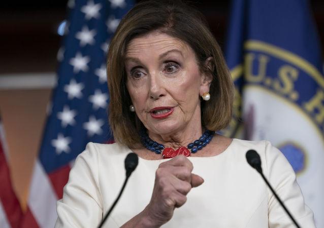 Nancy Pelosi, la presidenta de la Cámara Baja del Senado de EEUU
