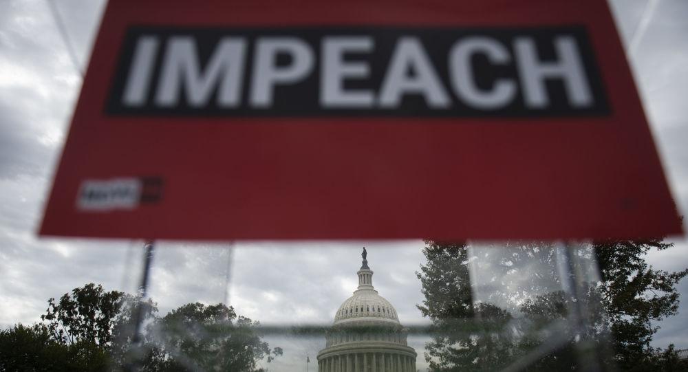 La campaña a favor del impeachment de Donald Trump en Washington, EEUU