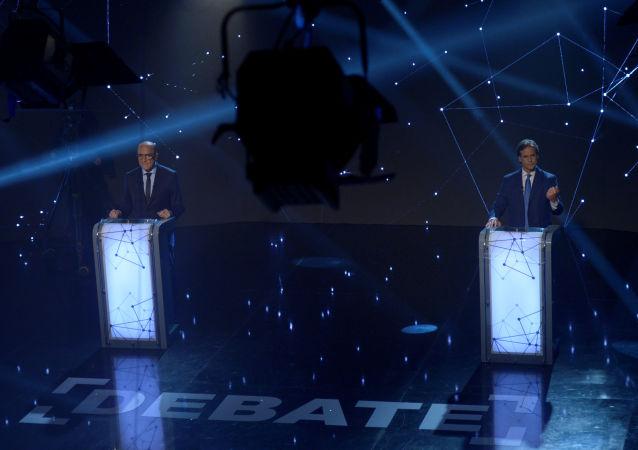 Los dos candidatos principales para las elecciones en Uruguay, Daniel Martínez y Luis Lacalle