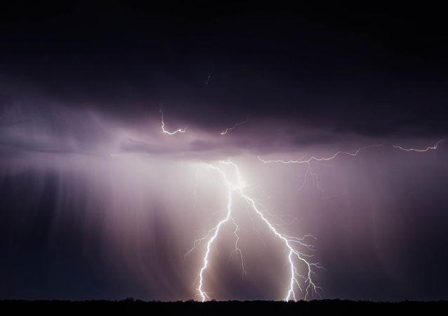 Rayos durante una tormenta