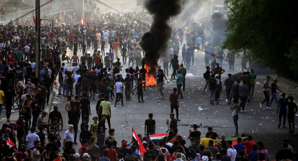 Protestas en Bagdad