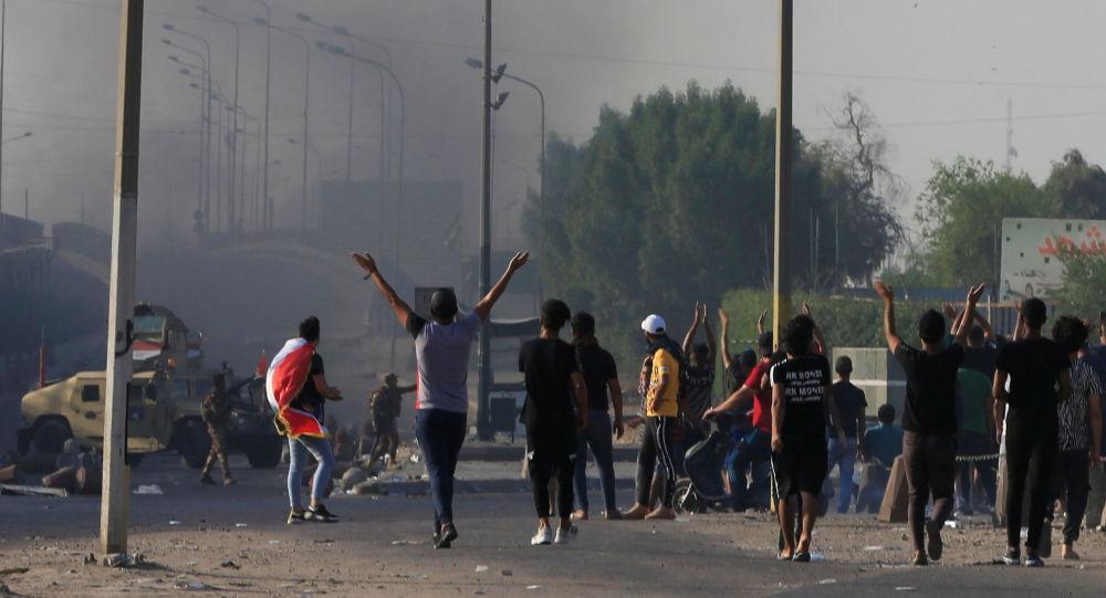 Las protestas en Irak