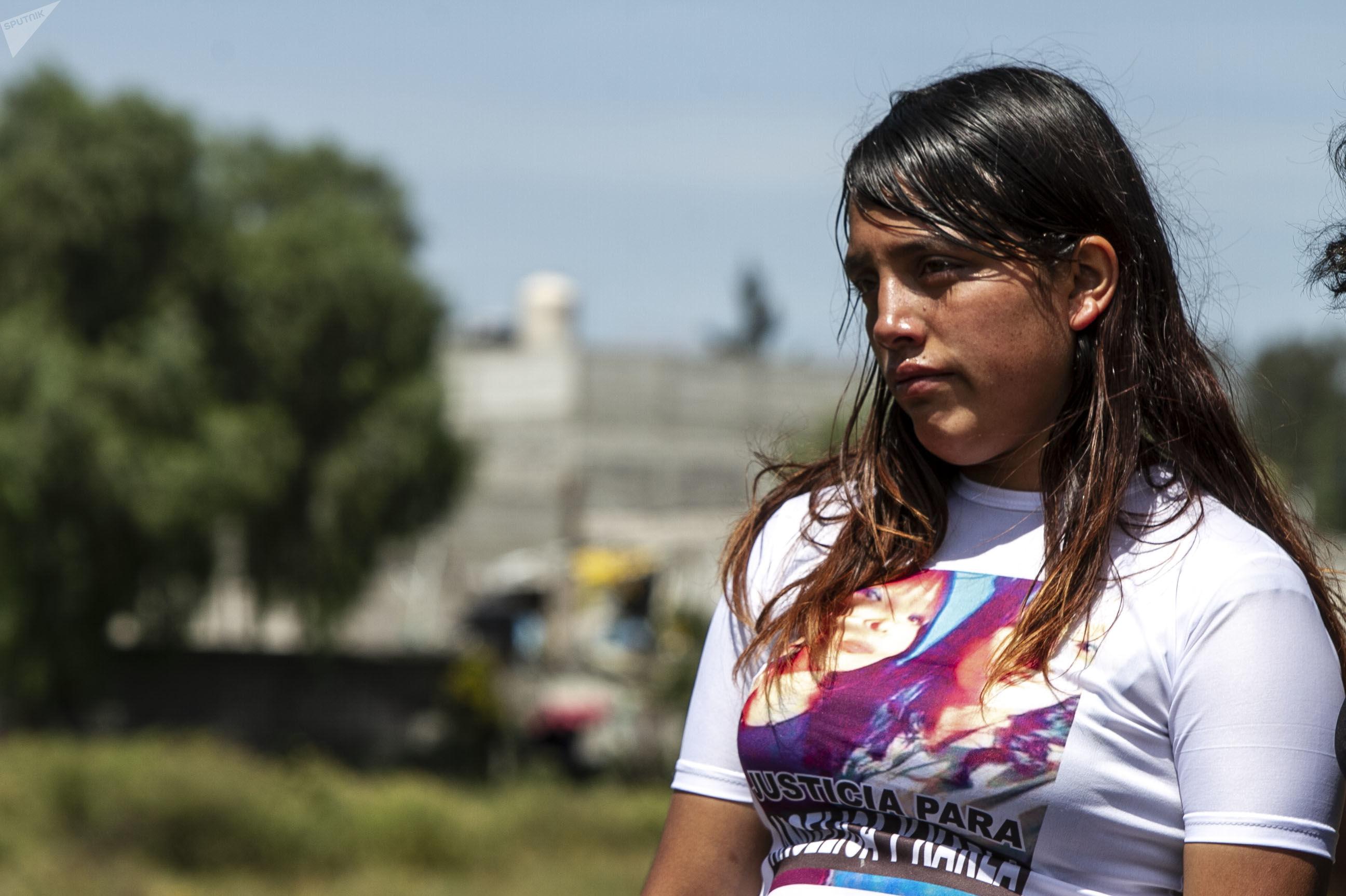 Lupe Ramírez durante la caravana contra el feminicidio en Ecatepec, Estado de México