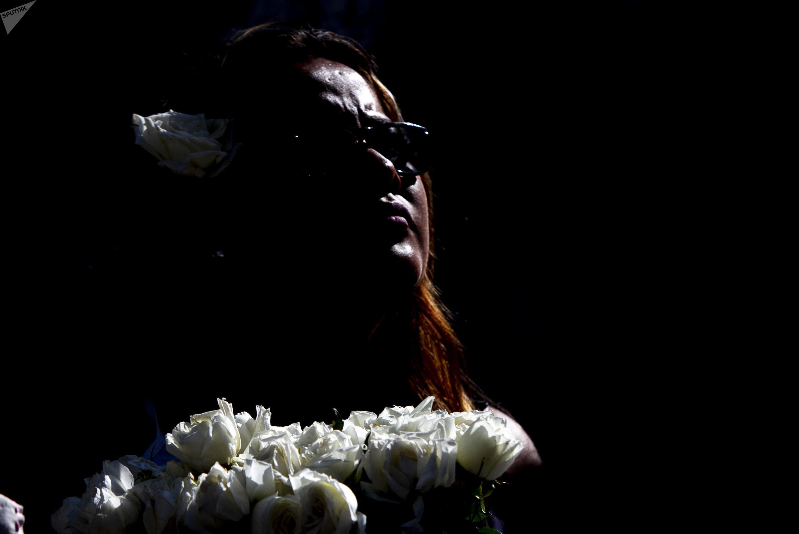 Asistente a la caravana contra los feminicidios en Ecatepec, Estado de México