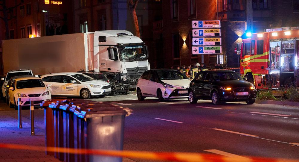 El camión que embistió contra otros vehículos en Alemania