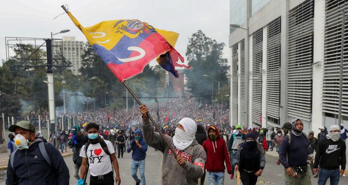 Protestas en Ecuador