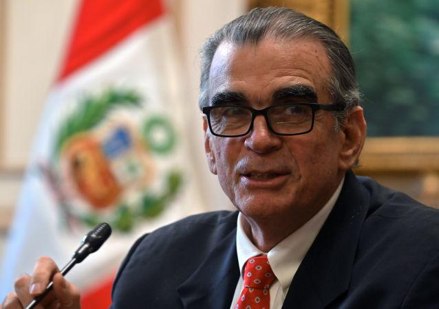 Pedro Olaechea, expresidente del Congreso peruano