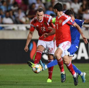 El partido entre las selecciones de Rusia y Chipre