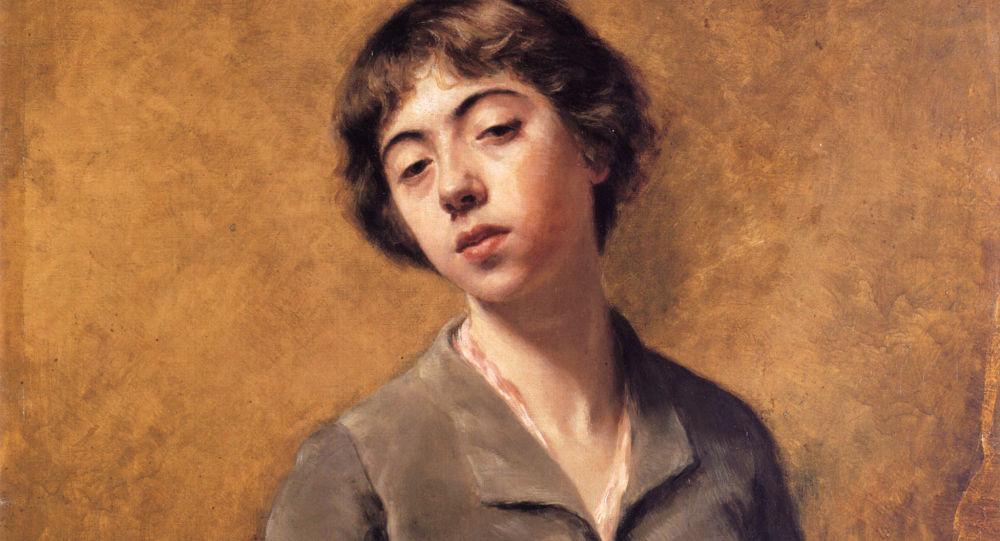 Autoretrato de Sabine Lepsius (1885)
