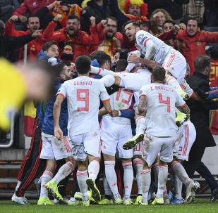 Victoria de la selección de España ante Suecia en el Friends Arena de Estocolmo, el 16 de octubre de 2019