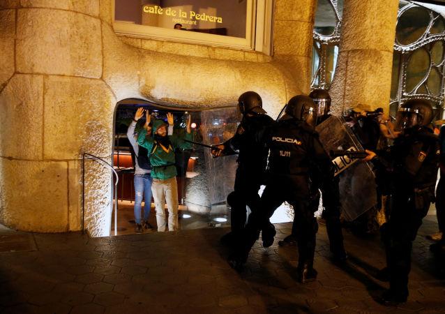 Los disturbios en Cataluña