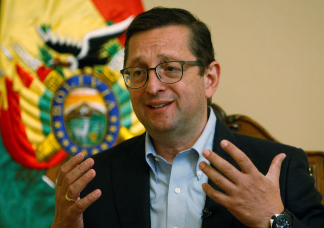 Óscar Ortiz, candidato a la presidente de Bolivia por el partido Unidad Demócrata (UD)