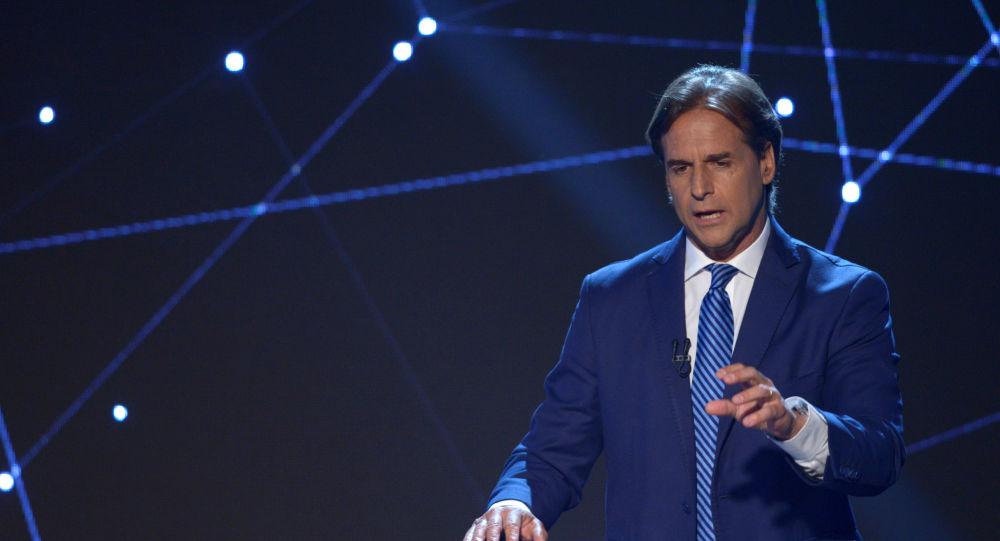 Luis Lacalle Pou, candidato presidencial del Partido Nacional de Uruguay