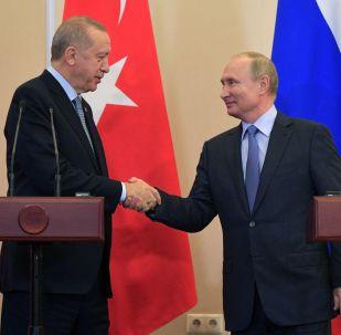 El presidente de Turquía, Recep Tayyip Erdogan, y el presidente de Rusia, Vladímir Putin (archivo)