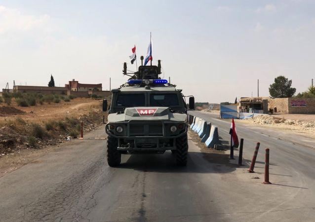 Los militares rusos en Siria durante el patrullaje
