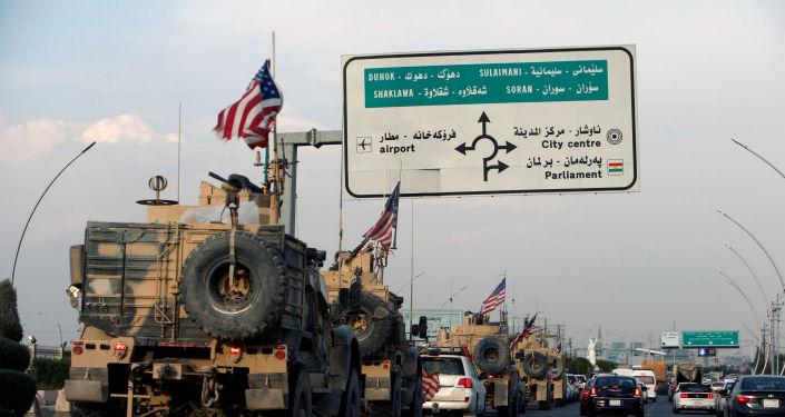 Un convoy de tropas de EEUU en Siria (archivo)