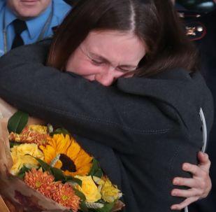 María Bútina llega a Moscú