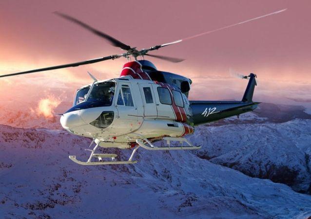 Un helicóptero tipo Bell 412 (imagen referencial)