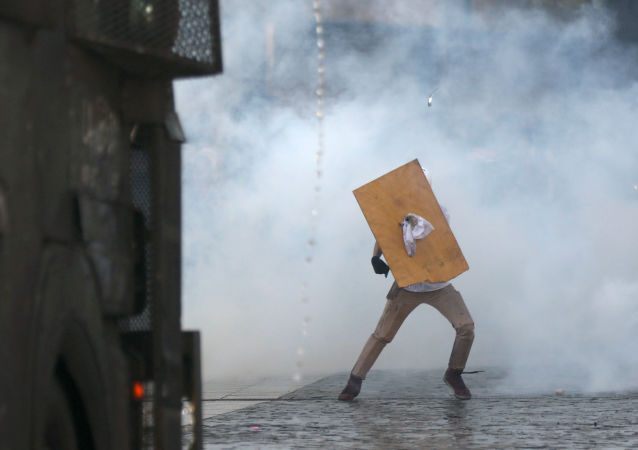 Las protestas en Santiago de Chile