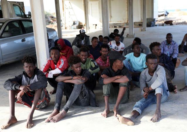 Migrantes libios