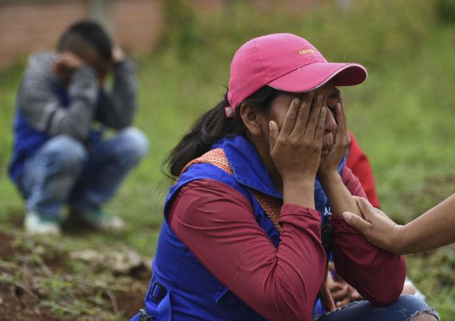 Familiares de los fallecidos durante la masacre del Cauca (Colombia), el 31 de octubre de 2019