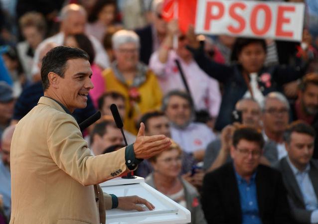 Pedro Sánchez, líder del PSOE