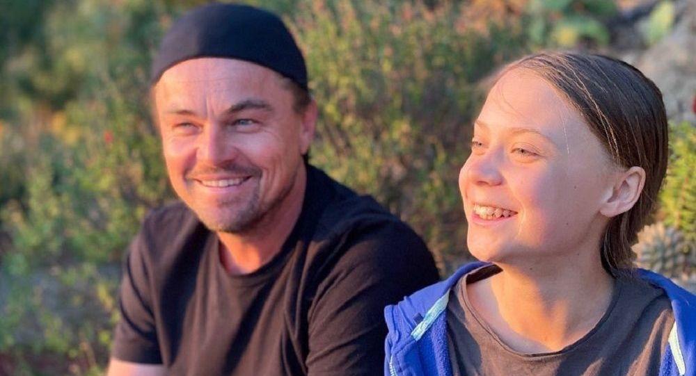 Leo DiCaprio con Greta Thunberg