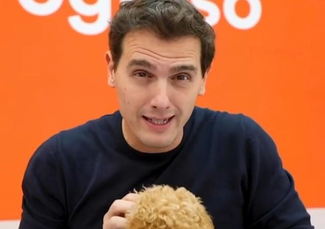 Albert Rivera, político español, durante un vídeo de camapaña para las elecciones generales de 2019
