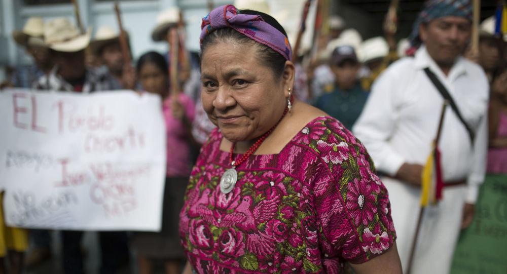 Rigoberta Menchú, la premio Nobel de la Paz guatemalteca