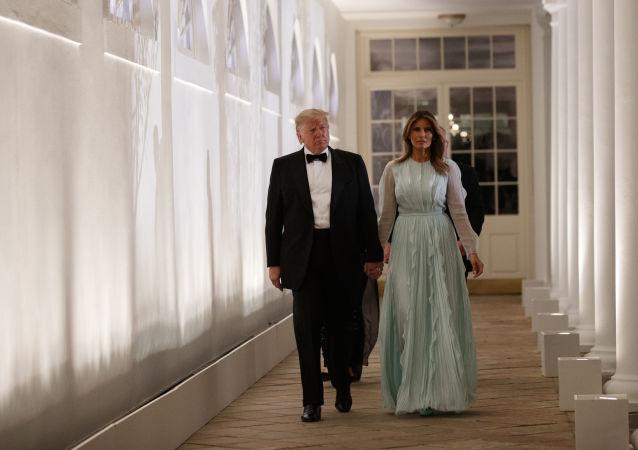 Donald Trump, presidente de EEUU, y su esposa, Melania