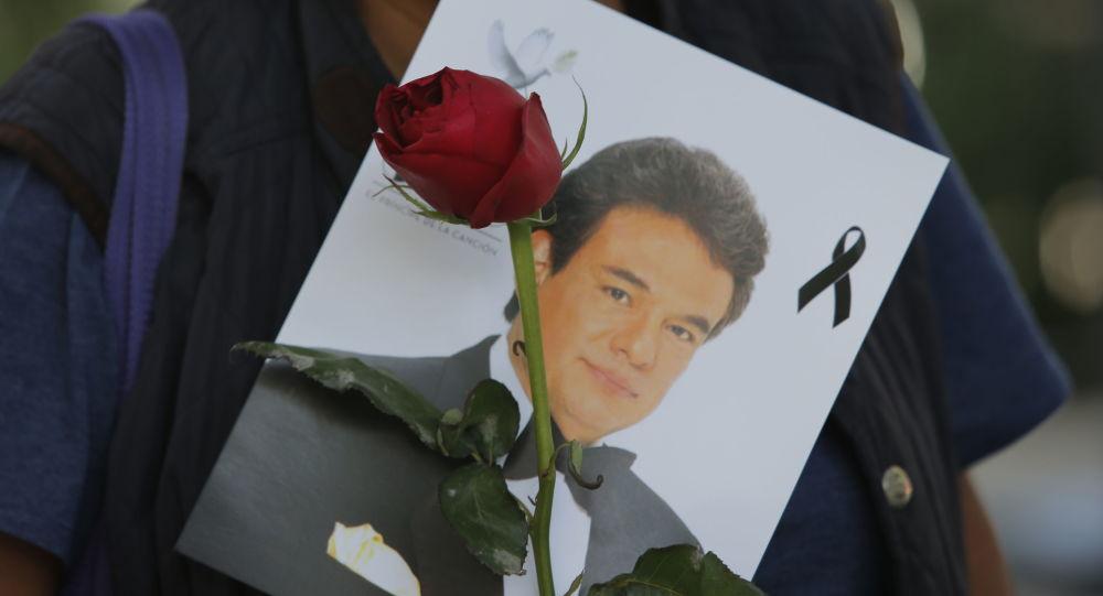 Retrato de José José, cantante mexicano