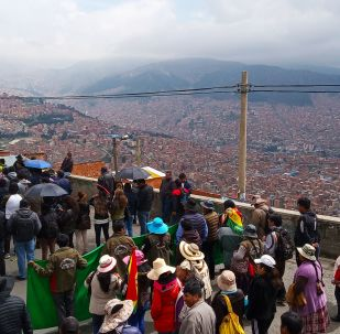 La marcha de la central sindical en Bolivia