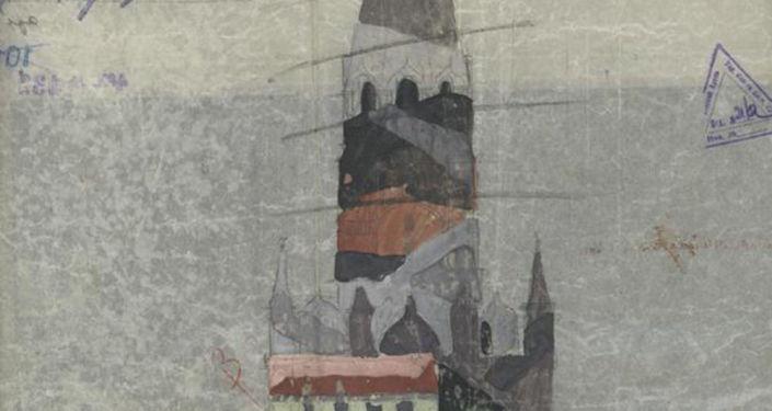 Planes del camuflaje del Kremlin de Moscú