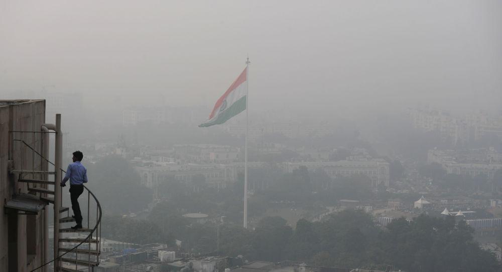 Contaminación atmosférica en Nueva Delhi