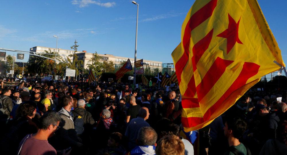 Una protesta independentista catalana