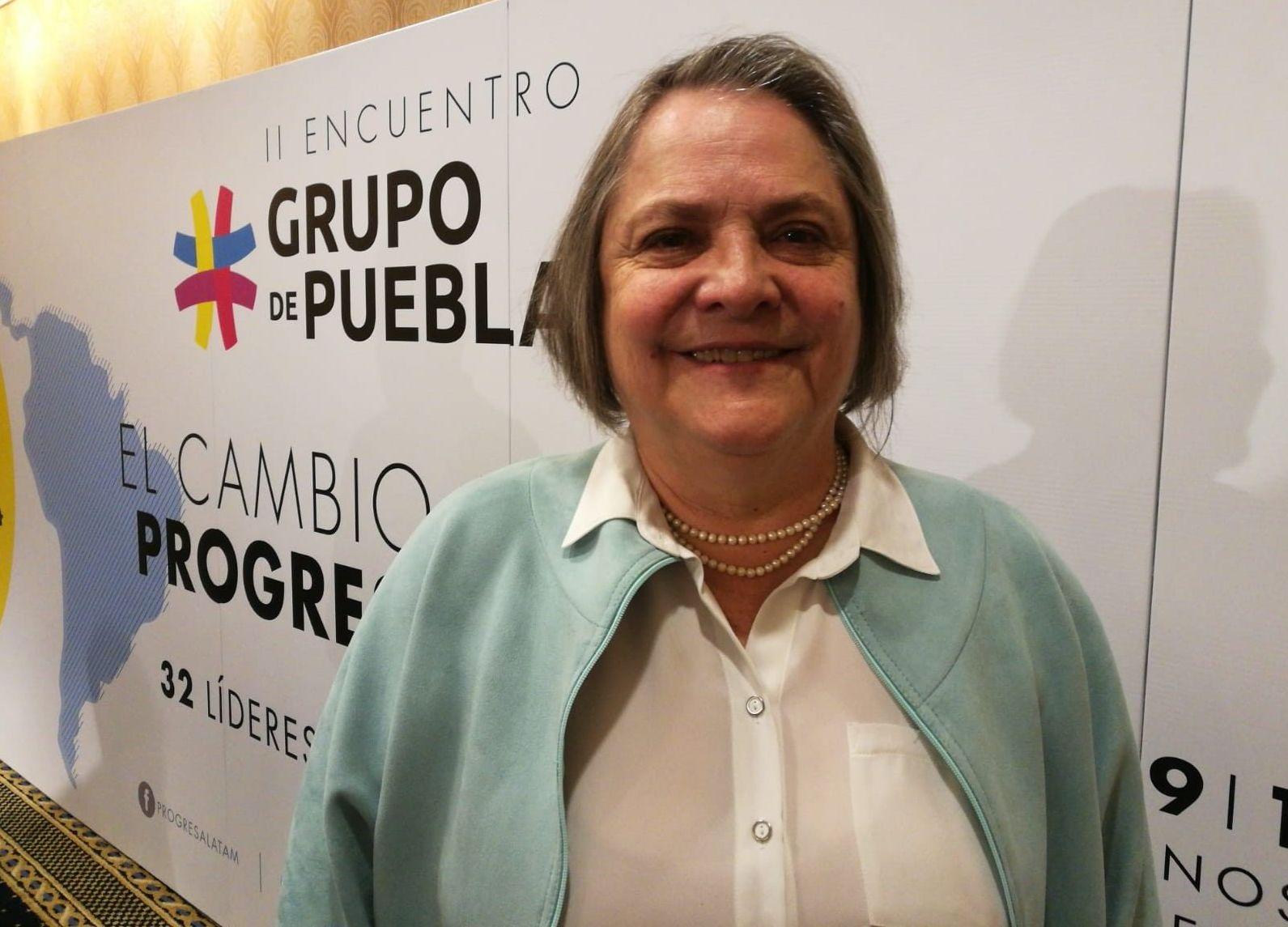 Clara López Obregón, vocera del Grupo de Puebla
