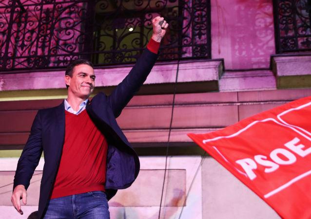 Pedro Sánchez, líder del PSOE y presidente del Gobierno en funciones