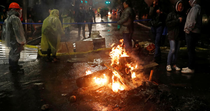 Disturbios en La Paz, Bolivia